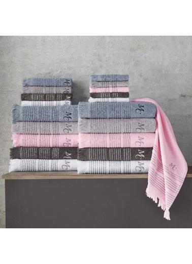 Marie Claire 2 Li Havlu Set-Helene 40X70 Cm 2Lı Set Grı 100% Pamuk Gri